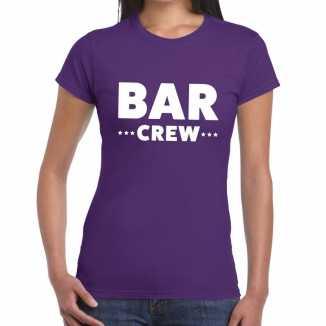 Bar crew shirt paars dames
