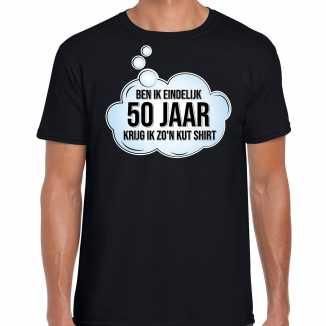 Ben ik eindelijk 50 jaar / abraham verjaardag cadeau t shirt / shirt zwart heren