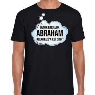 Ben ik eindelijk abraham verjaardag cadeau t shirt / shirt zwart heren