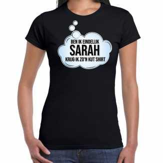 Ben ik eindelijk sarah verjaardag cadeau t shirt / shirt zwart dames