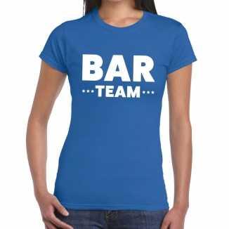 Blauw bar team shirt dames