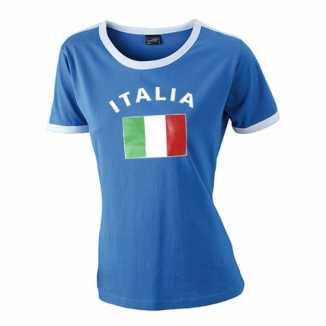 Blauw dames shirtje Italie vlag