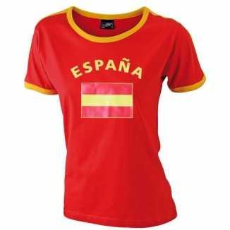 Blauw dames shirtje Spanje vlag