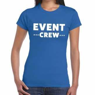 Blauw evenement shirt event crew bedrukking dames