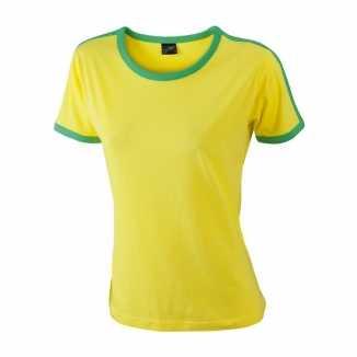 Braziliaanse kleuren shirt dames