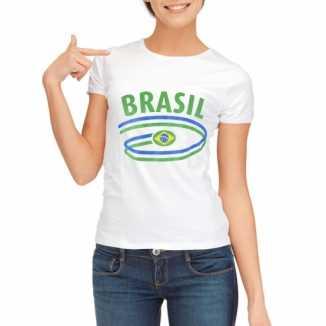 Brazilie vlaggen t-shirts dames