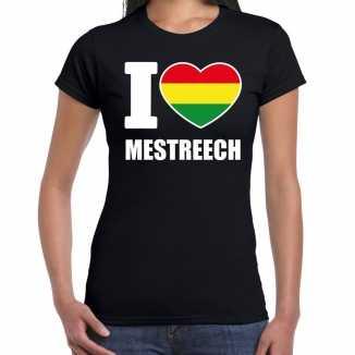 Carnaval i love mestreech t shirt zwart dames