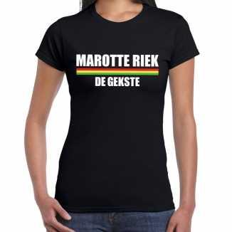 Carnaval marotte riek de gekste t shirt zwart dames