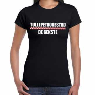 Carnaval tullepetaonestad de gekste t shirt zwart dames