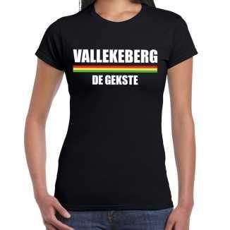 Carnaval vallekeberg de gekste t shirt zwart dames