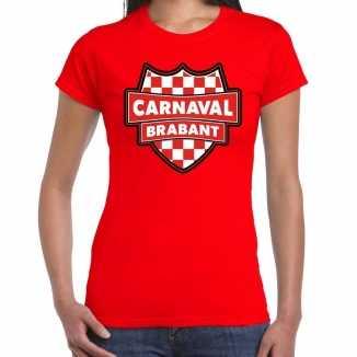 Carnaval verkleed t shirt brabant rood voor dames