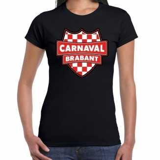 Carnaval verkleed t shirt brabant zwart voor dames