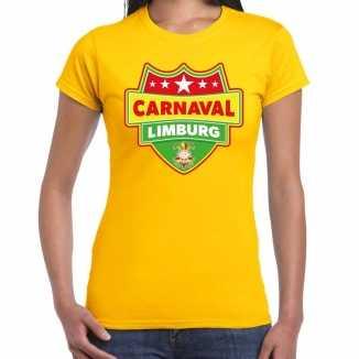 Carnaval verkleed t shirt limburg geel dames