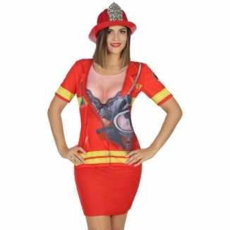Carnavalskleding brandweer shirt