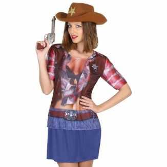 Carnavalskleding cowgirl shirt