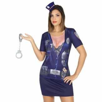 Carnavalskleding politie shirt
