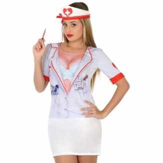 Carnavalskleding zuster shirt