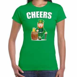 Cheers / st. patricks day t shirt / kostuum groen dames