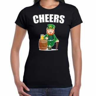 Cheers / st. patricks day t shirt / kostuum zwart dames