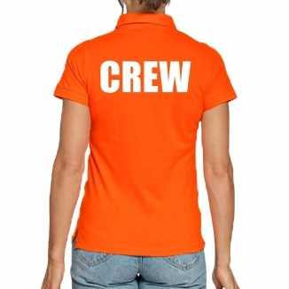 Crew poloshirt oranje dames