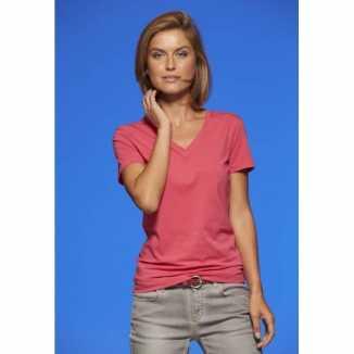 Dames cotton stretch shirts roze