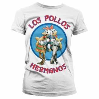 Dames T-shirt Los Pollos Hermanos wit