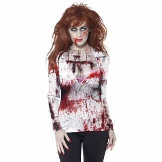 Dames t-shirt zombie print