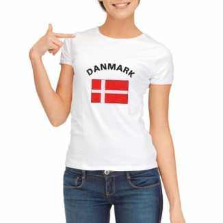 Denemarken vlaggen t-shirt dames