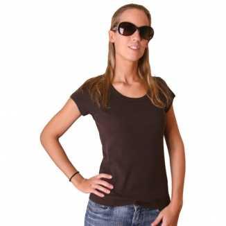 Donkerbruin Bella shirt dames