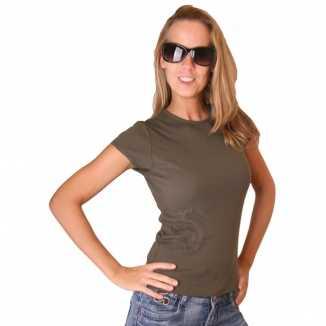 Donkergroen Bella shirt dames