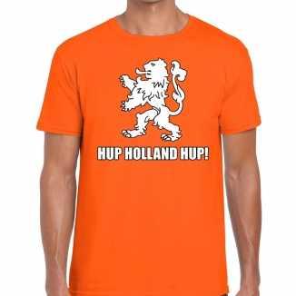 Ek / wk supporter t shirt hup holland hup oranje heren