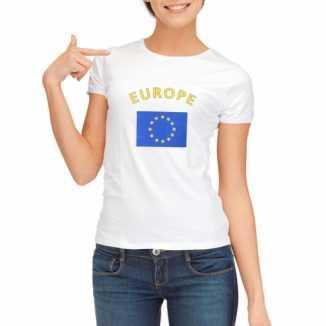 Europese vlaggen t shirt dames