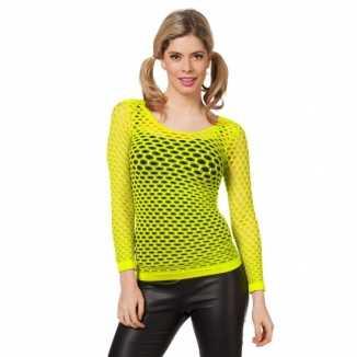 Fel geel t-shirt gaatjes