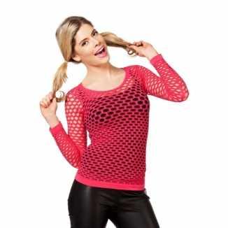 Fel roze t shirt gaatjes