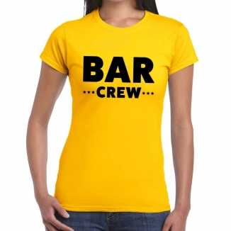 Geel bar crew shirt dames