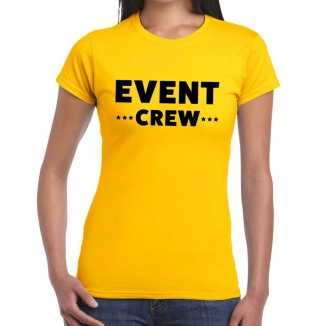Geel event crew shirt dames