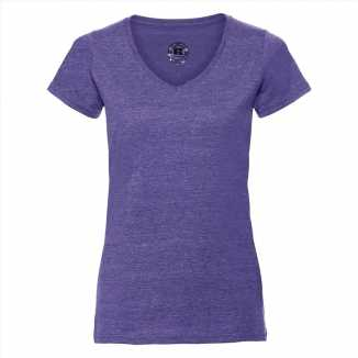 Getailleerde dames t-shirt v hals lila