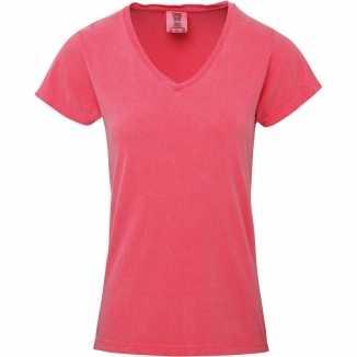 Getailleerde dames t shirt v hals roze