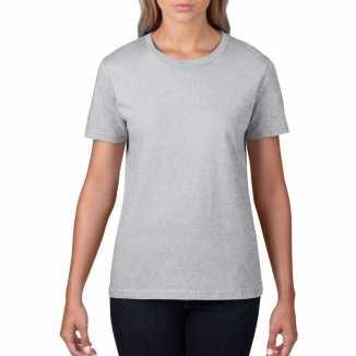 Getailleerde dameskleding t shirt ronde hals grijs