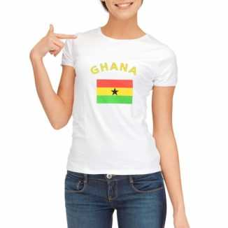 Ghanese vlaggen t-shirt dames