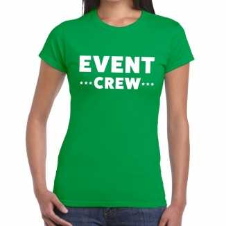 Groen evenement shirt event crew bedrukking dames
