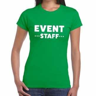 Groen evenement shirt event staff bedrukking dames