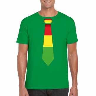 Groen t shirt limburgse vlag stropdas heren