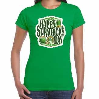 Happy st. patricks day / st. patricks day t shirt / kostuum groen dames