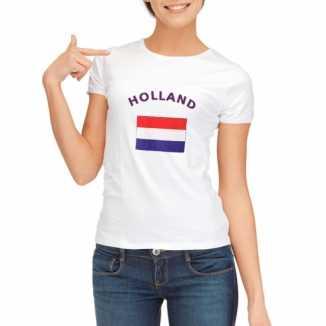 Holland vlaggen t shirt dames