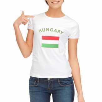 Hongarije vlaggen t-shirt dames