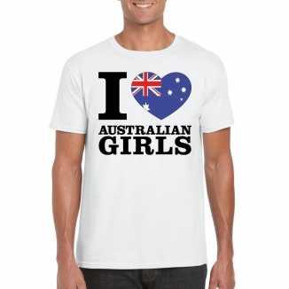 I love australian girls vakantie t shirt australie heren