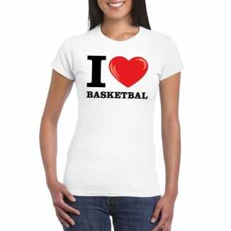 I love basketbal t shirt wit dames
