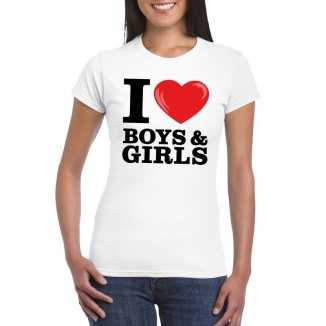 I love boys girls t-shirt wit dames