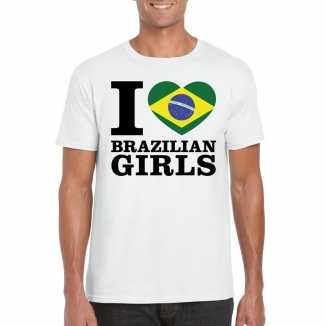 I love brazilian girls vakantie t shirt brazilie heren